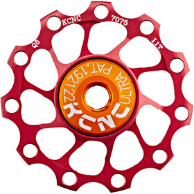 KCNC Jockey Wheel Ultra 11 tanden SS Lager, red